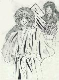 Kenshin with an angelic Kaoru